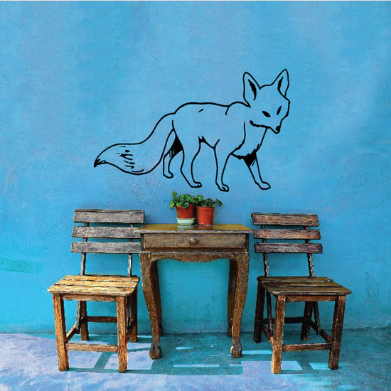 Walking Fox Decal