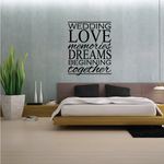 Wedding Love Memories Dreams Beginning Together Decal