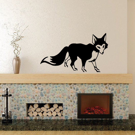Red Fox Walking Decal