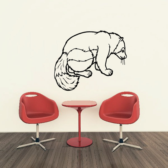 Curled Tail Badger Decal