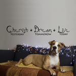 Cherish Yesterday Dream Tomorrow Live Today Wall Decal