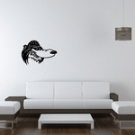 Dog Skull Wall Decal - Vinyl Decal - Car Decal - 035
