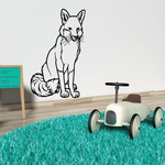 Red Fox Sitting Decal