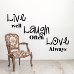live well laugh often Wall Decal