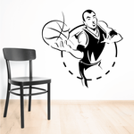 Basketball Dotted Circle Player Decal