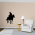 Looking Back Cowboy Riding Horse Decal