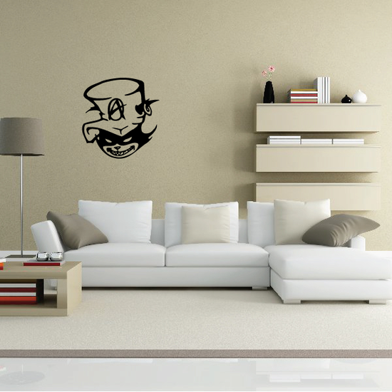 Anarchist Cat Skull Wall Decal - Vinyl Decal - Car Decal - 036
