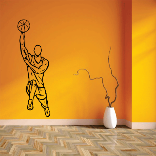 Basketball Wall Decal - Vinyl Decal - Car Decal - CDS026