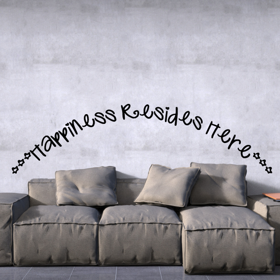 Happiness resides here Wall Decal