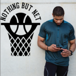 Nothing But Net Quote Wall Decal - Vinyl Decal - Car Decal - Vd006
