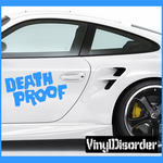 Death Proof Text Decal