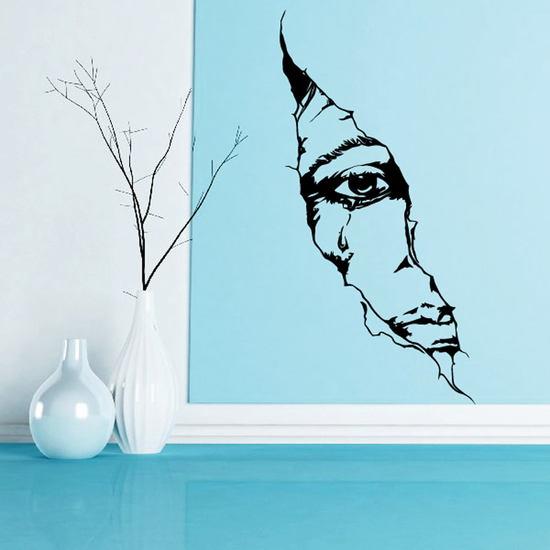 Skull Wall Decal - Vinyl Decal - Car Sticker - CD12001
