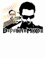 Depeche Mode Text Logo Decal