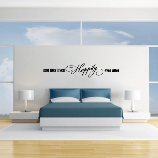 And They Lived Happily Ever After Wedding Decal