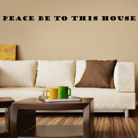 Peace be to this house Wall Decal