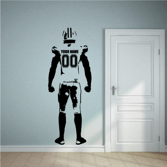 Custom Football Player Decal