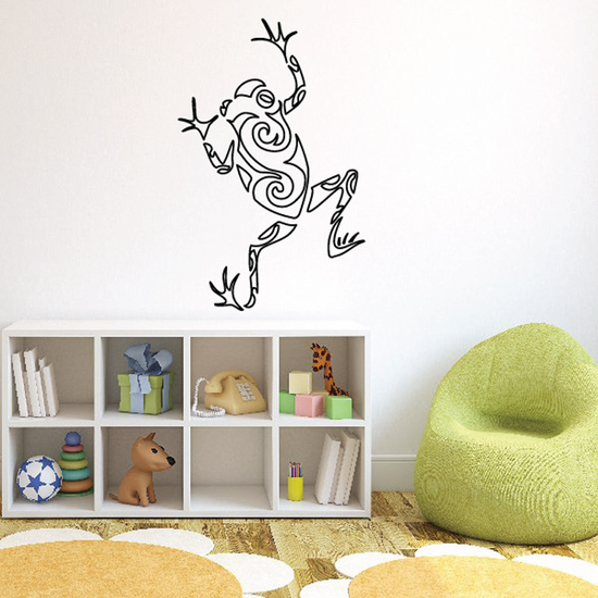 Swirl Hollow Design Frog Decal