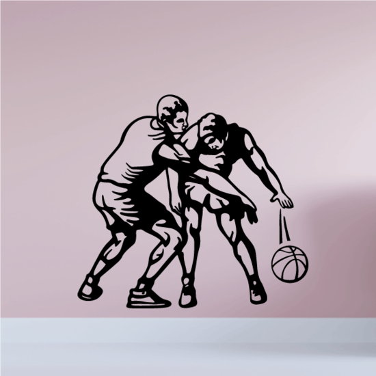 Basketball Wall Decal - Vinyl Decal - Car Decal - CDS041