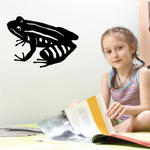 Striped Frog Decal