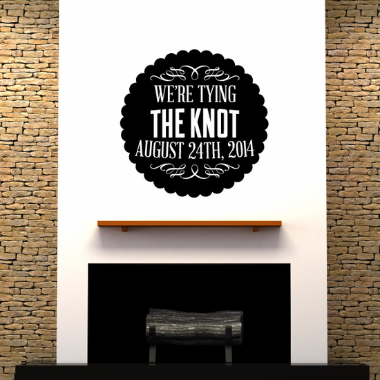 We're Tying The Knot Wedding Decal