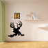 Buck Deer Head Peeking Decal
