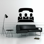 Business Men with Phone Icon Business Icon Wall Decal - Vinyl Decal - Car Decal - Id011
