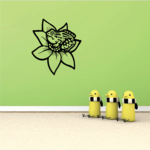 Spotted Frog on Flower Decal