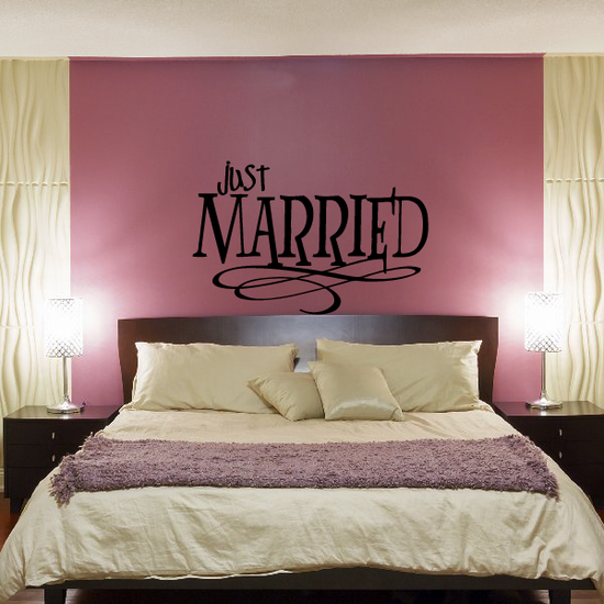 Just Married marriage wedding Celebrations Decal