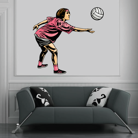 Volleyball Wall Decal - Vinyl Sticker - Car Sticker - Die Cut Sticker - CDSCOLOR104