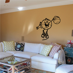 Basketball Wall Decal - Vinyl Decal - Car Decal - Bl040