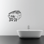 Belching Striped Frog Decal