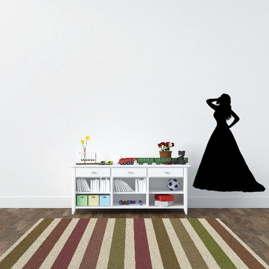 Lovely Bride Pose Silhouette Decal