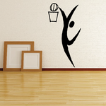 Basketball Wall Decal - Vinyl Decal - Car Decal - Bl044