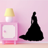 Beautiful Bride Standing Silhouette Decal