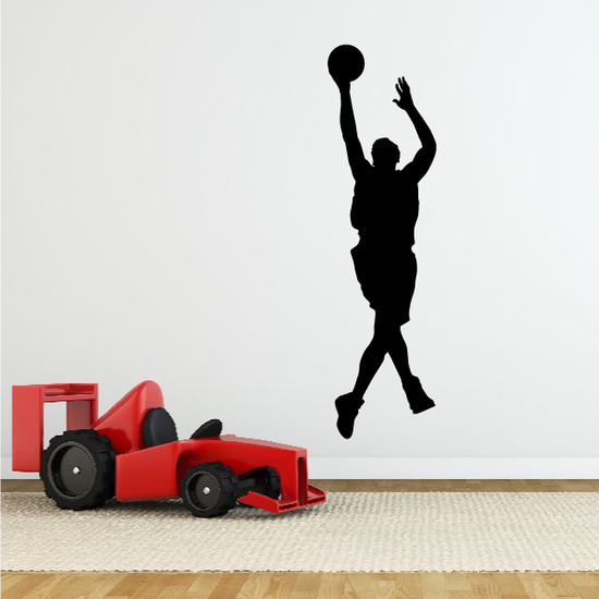 Basketball Step-back Jump Shot Decal