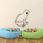 Frog Looking Up Sitting Decal