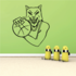 Basketball Mascot Grinning Wolf Decal