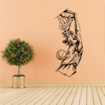 Basketball Mascot Panther Dunking Decal