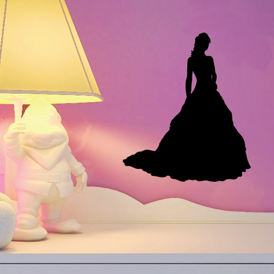 Gentle Bride Silhouette Decal