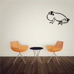 Side Croaking Frog Decal