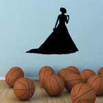 Strolling Bride Silhouette Decal
