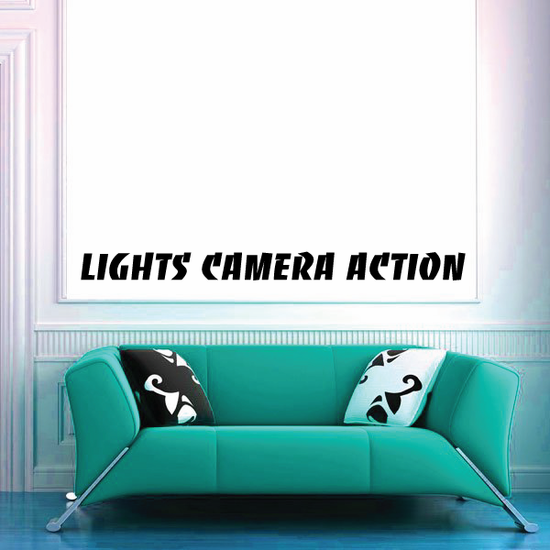 Lights camera action Decal