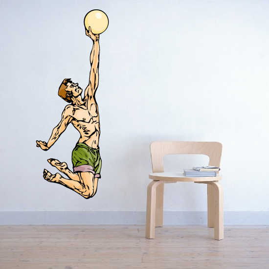 Volleyball Wall Decal - Vinyl Sticker - Car Sticker - Die Cut Sticker - CDSCOLOR125