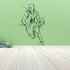 Basketball Expressive Lines Dribbling Player Decal