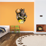 Basketball Wall Decal - Vinyl Sticker - Car Sticker - Die Cut Sticker - CDScolor171