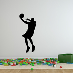 Basketball Turnaround Jump Shot Decal