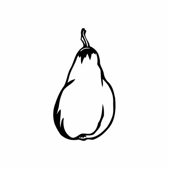 Pear Decal