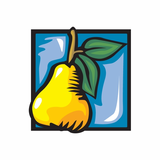 Pear with Leaves Sticker