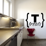 Treats Brackets Decal