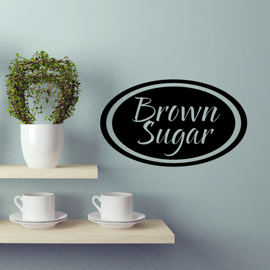 Brown Sugar Oval Decal